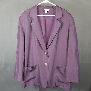 3 for $12- XL purple  silk blazer